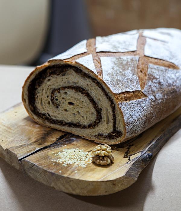 Doğal Mayalı Tarçınlı Cevizli Ekmek